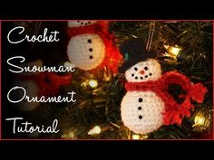 Learn how to crochet these adorable snowmen ornaments for Christmas! Make a bunch to give away and be sure to make a few more to keep for yourself! Full free...