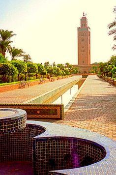Mezquita Koutoubia en Marrakech, Marruecos