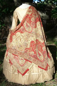 Early Victorian Roller Printed Shawl C 1840s | eBay