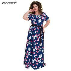 1d2647cc0a42 Printed Flower Dress. Plus Size VintageBeach DressesSummer DressesFloral  Maxi ...