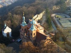 view from the Radio tower, Petrin Hill, Prague