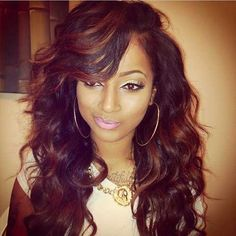 For women weave black hairstyles curly