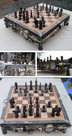 Battle Of The Nuts Steampunk Edition by Ram Mallari Jr. #Chess #Steampunk #Design