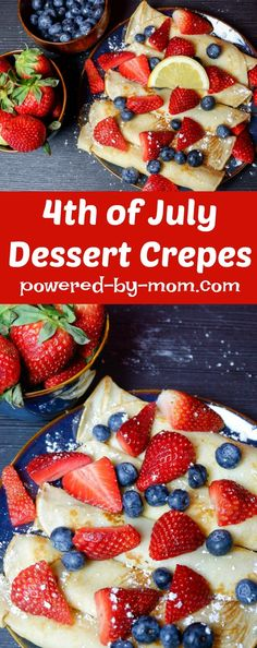 Crepes are delicious to serve for dessert, breakfast or special occasions. Even dinner for savory crepes! Perfect for special occasions like Easter, or the of July. Best Dessert Recipes, Brunch Recipes, Easy Desserts, Delicious Desserts, Breakfast Recipes, Pancake Recipes, Waffle Recipes, Sweet Desserts, Drink Recipes