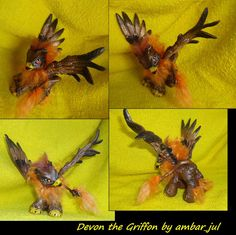 My little pony custom griffon Devon by AmbarJulieta.deviantart.com on @deviantART