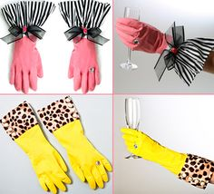 clean in style with these super cute DIY kitchen gloves