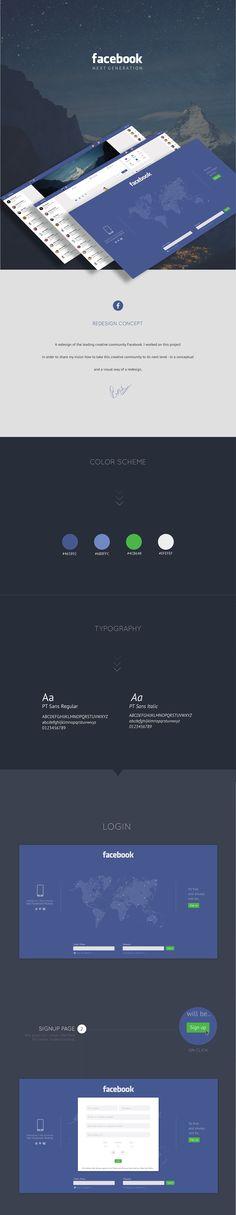 Facebook Redesign on Behance