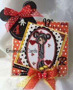 Card making ! Colorato a mano! Minnie! Adoro!!
