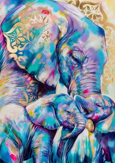Unique Paintings, Paintings For Sale, Beautiful Paintings, Spray Paint On Canvas, Acrylic Painting Canvas, Fox Painting, Elephant Tattoo Design, African Paintings, Elephant Art