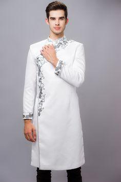 Áo dài nam #lahava Wedding Dress For Boys, Wedding Kurta For Men, Gents Kurta Design, Boys Kurta Design, India Fashion Men, Indian Men Fashion, Ao Dai Men, Gents Shirts, Pathani Kurta