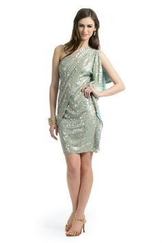 Badgley Mishka aqua sequin dress $40