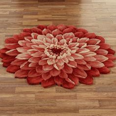 Amazing Hand Tufted Mandara Fun Flower Shaped Wool Rug (33 X 33) | Les Fleurs  Underfoot | Pinterest | Wool Rug Ideas