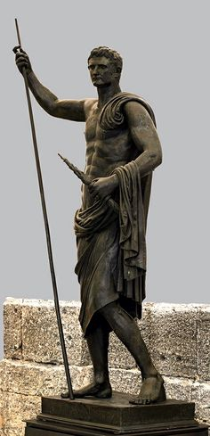 Emperor Augustus as a nude hero. Bronze. 49—50 C.E. Naples, National Archaeological Museum