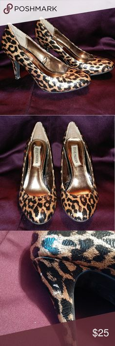 Steve Madden Cheetah Print Heels Good condition. A few Knicks on both heels (pictured) Steve Madden Shoes Heels