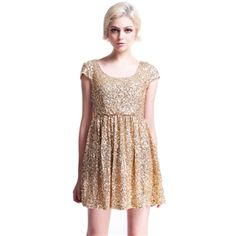 Dress - Paillettes Apricot Shift Dress #pariscoming your personal style online store. #outfit #stylist #Styling #streetstyle #fashionblog #fashiondiaries #fashiondiary #WearIt #WhatYouWear ✿ ❀ like it? buy now ❀ ✿