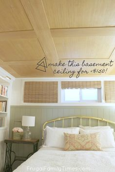 Plywood Ceiling, Basement Ceiling Options, Wood Ceilings, Basement Ideas, Basement Ceilings, Ceiling Tiles, Basement Bars, Wood Ceiling Panels, Finish Basement Ceiling