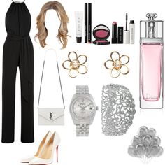 Untitled #140 by isnaniarana on Polyvore featuring polyvore fashion style Michael Kors Christian Louboutin Yves Saint Laurent Rolex Christian Dior Bobbi Brown Cosmetics