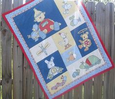Red and Blue Baby Bedding Boy Quilt Boy Quilt by TakeTwoBabyQuilts, $45.00