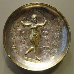 A silver gilt Sasanian plate depicting Anahita (An Iranian goddess). بشقاب نقره زراندود دوره ساسانی با نقش آناهیتا الهه آبها و نماد باروری، تندرستی و خرد  #iran #iranian #history #sassanid #sasanian #persian #civilization #silver #gilt #plate #anahita #goddess
