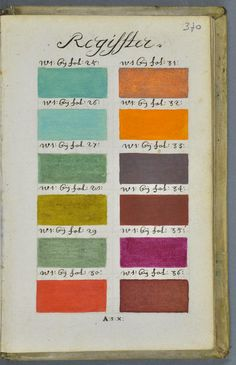 a book of watercolor paints from 1692!
