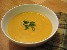 The Joyful Table: Sweet Potato Soup with Ginger and Curry