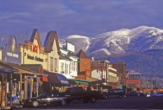 Whitefish, Montana - a great place for skiing, snowmobiling, golfing, boating and fun nightlife