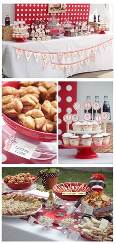 This would be a great baby shower theme for my friend Tricia! http://blog.amyatlas.com/2011/06/sock-monkey-guest-dessert-feature/