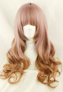[Kyouko wig] Harajuku / lolita the Amo the same paragraph Taro / brown color mixing 65cm daily natural curls - Taobao