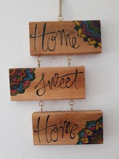 Best Home Sweet Hom Cuadro Vintage 19 Ideas Country Wood Signs, Wooden Signs, Wood Plank Art, Wood Art, Home Crafts, Diy Home Decor, Diy And Crafts, Barn Wood Crafts, Ideias Diy