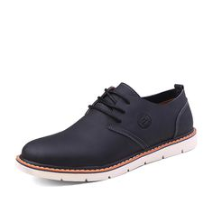 Classic Britissh Style Sapatos Masculinos Casual Men Shoes Size 38 to 43 Black Dark Blue Light Brown