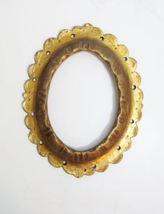 Antique Gilded Oval Frame by FairSails on Etsy