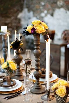 Steampunk style is crazy but so eye-catching! All those gears, wheels, feathers, pocket watches and top hats – so cool together! The secret of an awesome steampunk table decor is a creative centerpiece. Wedding Centerpieces, Wedding Table, Rustic Wedding, Wedding Decorations, Table Decorations, Wedding Ideas, Gatsby Wedding, Centerpiece Ideas, Party Wedding