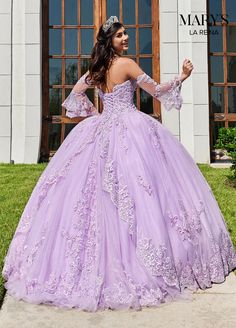 Get the beautiful Lace Bell Sleeves Quinceañera Dress and other amazing Mary's Bridal quinceanera dresses on Mi Padrino. Lavender Quinceanera Dresses, Quince Dresses, Bridal Dresses, Charro Quinceanera Dresses, Xv Dresses, Lavender Dresses, Quinceanera Ideas, Pageant Dresses, Fashion Dresses