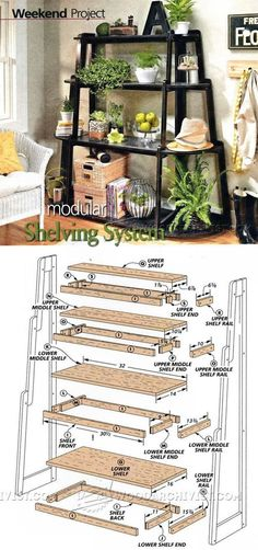 Modular Shelving System Plans - Woodworking Plans and Projects | WoodArchivist.com