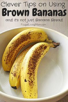 Clever tips for making use of brown bananas. Don't waste food; here's how to save money!