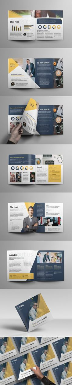 Modern Square Business Brochure #simple #clean