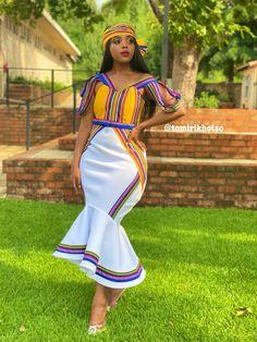 Tomi R Venda Wedding Dress Best African Dresses, Latest African Fashion Dresses, African Attire, African Inspired Fashion, African Print Fashion, African Prints, Venda Traditional Attire, South African Traditional Dresses, Kente Dress