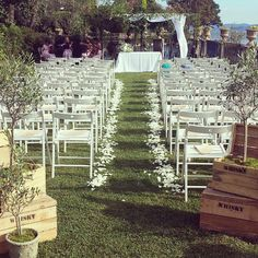 Outdoor wedding ceremony italian lakes by Varese Wedding italy wedding planners