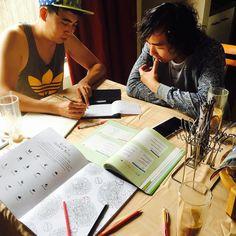 오늘부터 한글공부 시작 ㅋㅋㅋㅋ 호주와서 한글배우는 홍콩기요미  영어로 한글 가르치니 웃기네 ㅋㅋㅋㅋ #warrnambool #warrnamboollife  #learningKorean #한글공부 #기여워ㅋㅋㅋ by l00888_jace