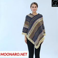 Women Sweater Tassel Red Poncho And Caps Casual Pull Pullover Casual Sweater – knitting sweaters videos Casual Sweaters, Sweaters For Women, Blazers For Women, Coats For Women, Clothes For Women, Crochet Poncho Patterns, Crochet Shawl, Knit Crochet, Mode Crochet