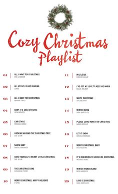 A cozy Christmas playlist to get you in the spirit of the holidays!
