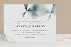 Prism Foil-Pressed Wedding Invitations by Kelly Ventura at minted.com