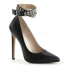 Ladies Fashion Trend Style Girls Spike Stud Platform Court Shoes