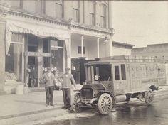 Eriksen's grocery truck. Greenville, Michigan. Circa 1930.