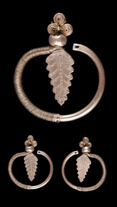 Vietnam | Pair of earrings from the Yao women; silver.  ca. 1969 or earlier.  // ©Quai Branly Museum. 71.1969.3.11.1-2