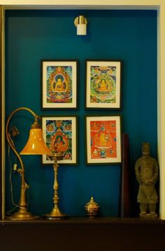 love the colour and the tankha paintings