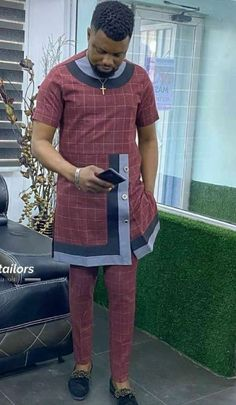 African Men, African Attire, Nigerian Men Fashion, Mens Fashion, Native Wears, Casual Wear For Men, Mixing Prints, Traditional Outfits, Mannequin