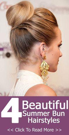 Idées Coiffures Pour Femme  2017 / 2018   Les meilleures coiffures Summer Bun