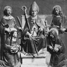 Altarpiece Sculpture- Della Robbia: StAnselm-ArchbishopOfCanterbury (Anselm of Bec/Anselm of Aosta) Monk,Theologian,Philosopher, Church Prelate (1033-1109)