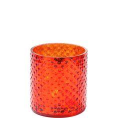 DELIGHT mécsestartó 8cm narancs üveg